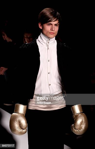 A model walks the runway at the Kilian Kerner fashion show during the autmn/winter 2009/10 Mercedes Benz Fashion week on January 29 2009 in Berlin...