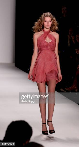 A model walks the runway at the Kilian Kerner fashion show during the autmn/winter 2009/10 Mercedes Benz Fashion week on January 31 2009 in Berlin...