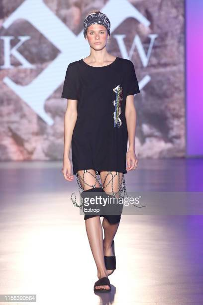 A model walks the runway at the Killing Weekend show during Barcelona 080 Fashion Week Spring/Summer 2020 on June 26 2019 in Barcelona Spain