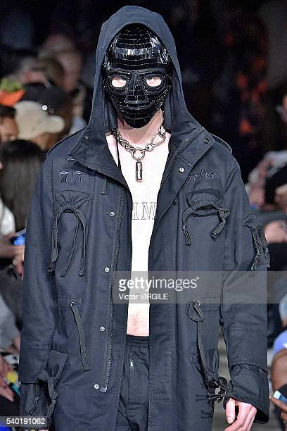 Model walks the runway at the KTZ designed by Marjan Pejoski show during The London Collections Men SS17 on June 12, 2016 in London, England.