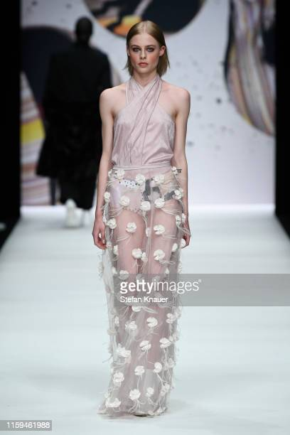 A model walks the runway at the KXXK show during the Berlin Fashion Week Spring/Summer 2020 at ewerk on July 01 2019 in Berlin Germany