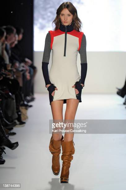 A model walks the runway at the Lacoste Autumn Winter 2012 fashion show during New York Fashion Week on February 11 2012 in New York United States