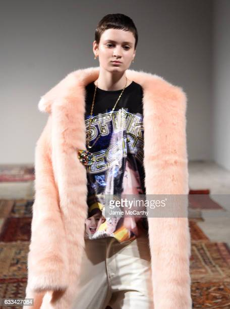 A model walks the runway at the Landlord Presentation at Skylight Clarkson North on February 1 2017 in New York City