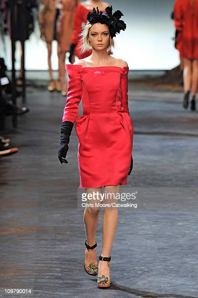 A model walks the runway at the Lanvin fashion show during Paris Fashion Week on March 4 2011 in Paris France