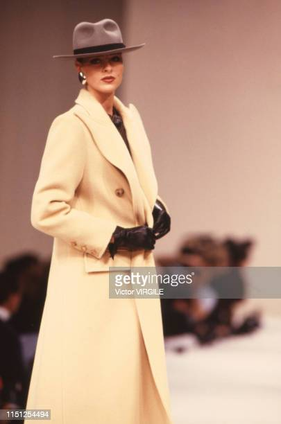 A model walks the runway at the Lanvin Ready to Wear Fall/Winter 19891990 fashion show during the Paris Fashion Week in March 1989 in Paris France