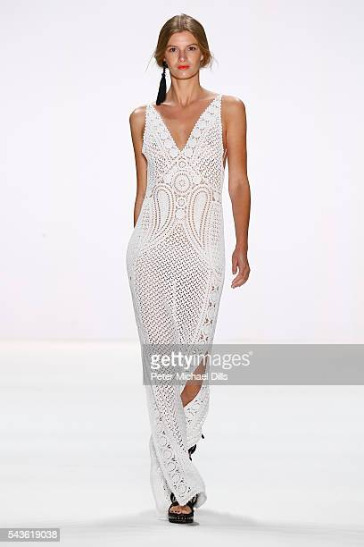 A model walks the runway at the Laurel show during the MercedesBenz Fashion Week Berlin Spring/Summer 2017 at Erika Hess Eisstadion on June 29 2016...