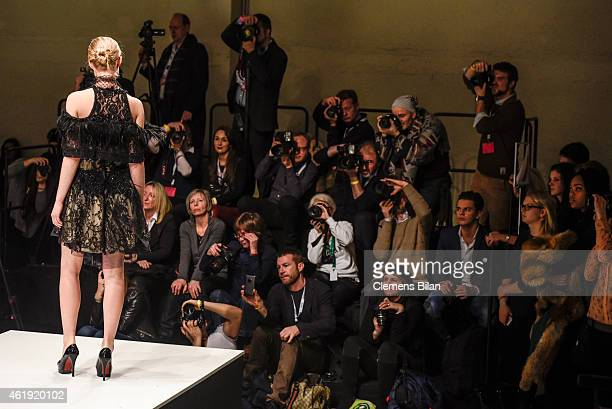 A model walks the runway at the Lavera Showfloor on January 21 2015 in Berlin Germany