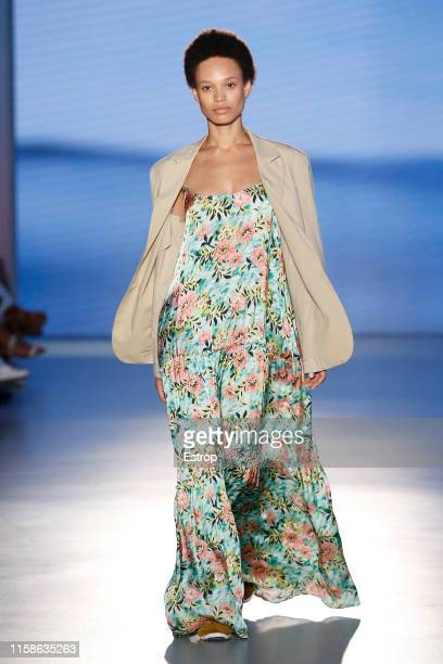 A model walks the runway at the Lebor Gabala show during Barcelona 080 Fashion Week Spring/Summer 2020 on June 27 2019 in Barcelona Spain
