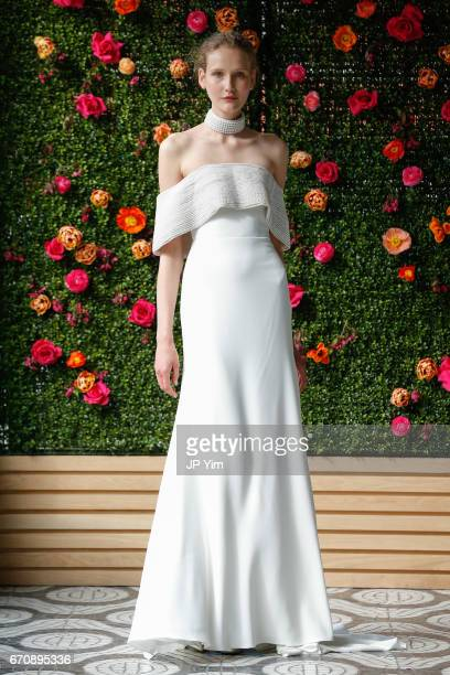 A model walks the runway at the Lela Rose Spring 2018 bridal show at La Sirena on April 20 2017 in New York City