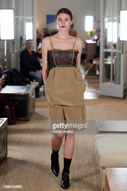A model walks the runway at the Lexdeux fashion show during the Mercedes Benz Fashion Week Autumn/Winter 20192020 at Club Matador on January 23 2019...