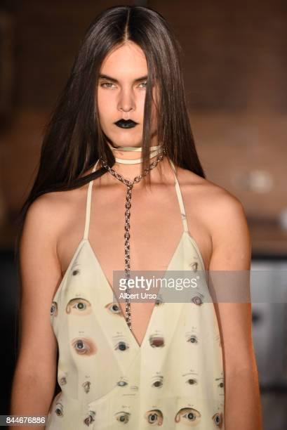 A model walks the runway at the Linder fashion show during New York Fashion Week on September 8 2017 in New York City