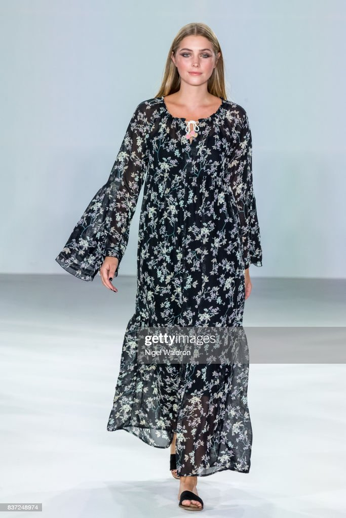 A model walks the runway at the Line of Oslo show during the Fashion Week Oslo Spring/Summer 2018 at the Sentralen on August 22, 2017 in Oslo, Norway.