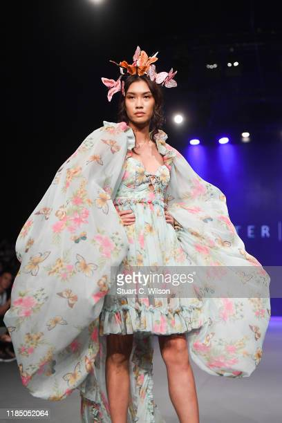 A model walks the runway at the Lobster Claw show during the FFWD October Edition 2019 at the Dubai Design District on November 02 2019 in Dubai...
