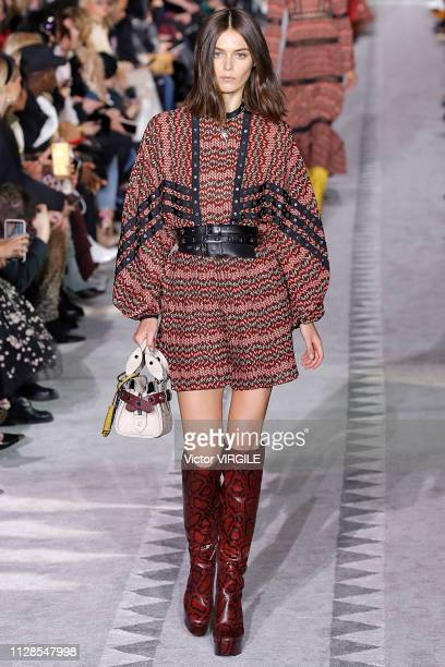 A model walks the runway at the Longchamp Ready to Wear Fall/Winter 20192020 fashion show during New York Fashion Week on February 9 2019 in New York...
