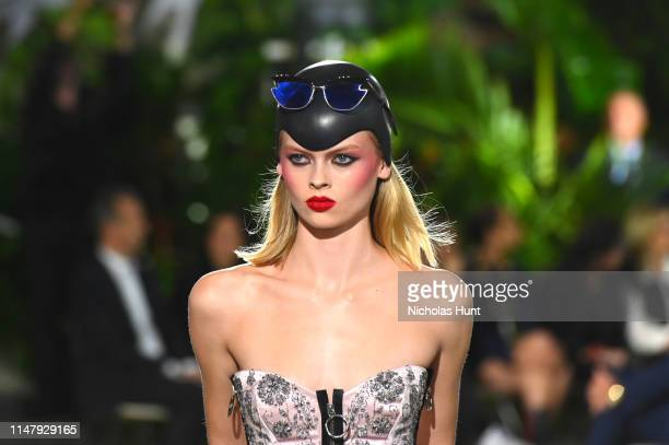 A model walks the runway at the Louis Vuitton Cruise 2020 Fashion Show at JFK Airport on May 08 2019 in New York City