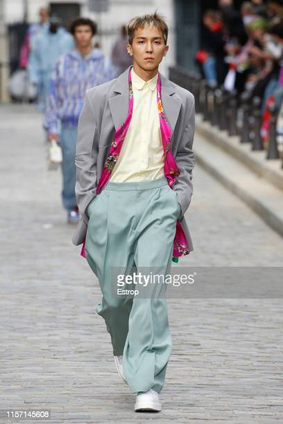 Model walks the runway at the Louis Vuitton show during Paris Men's Fashion Week Spring/Summer 2020 on June 20, 2019 in Paris, France.