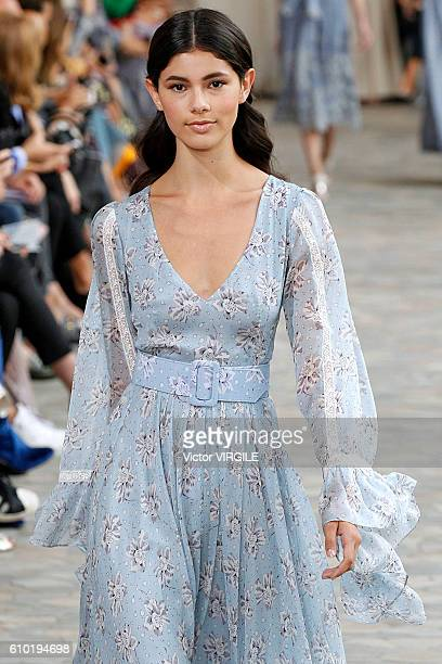 Model walks the runway at the Luisa Beccaria Ready to Wear show during Milan Fashion Week Spring/Summer 2017 on September 22, 2016 in Milan, Italy.