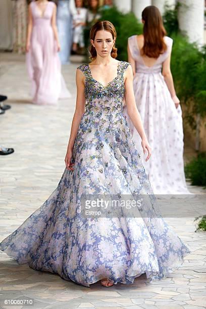 39ff5bb433f0 A model walks the runway at the Luisa Beccaria show Milan Fashion Week  Spring Summer