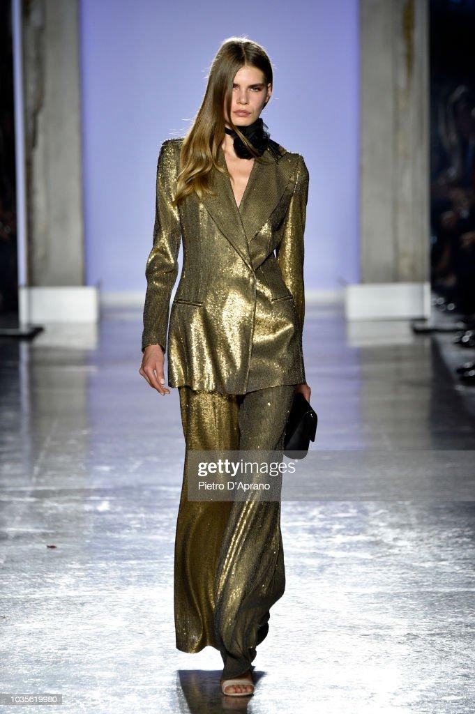 model-walks-the-runway-at-the-luisa-spagnoli-show-during-milan-week-picture-id1035619980