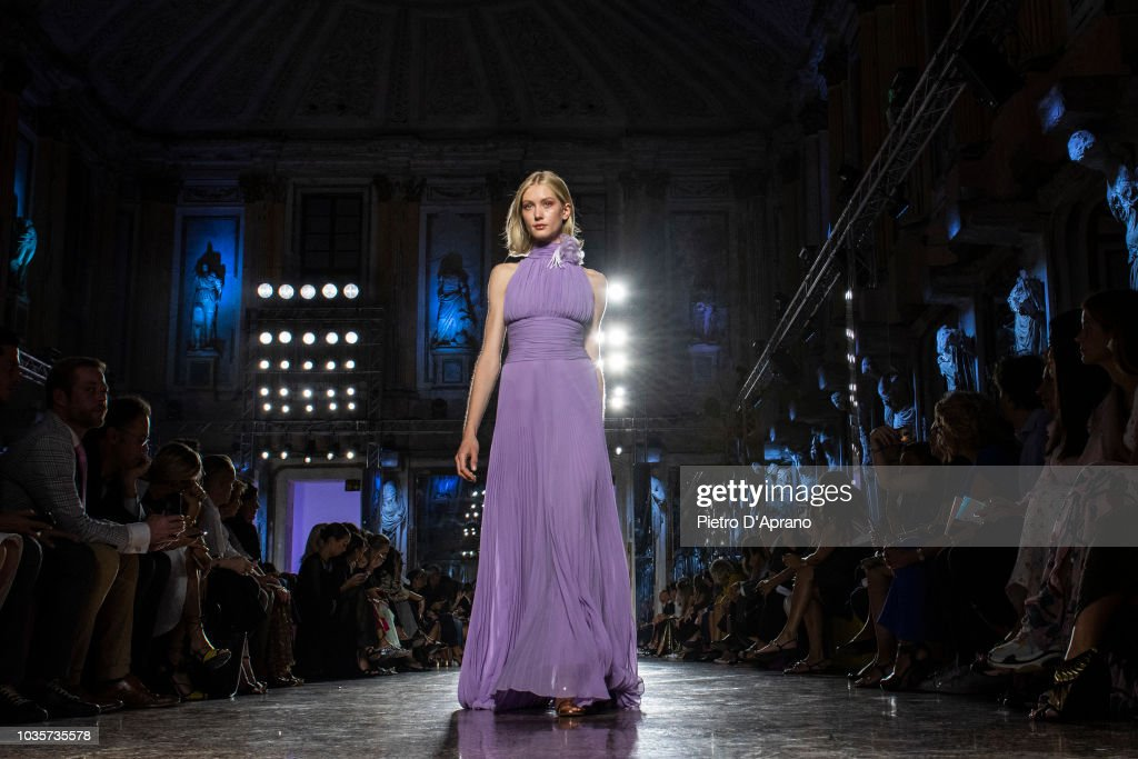 A model walks the runway at the Luisa Spagnoli show during Milan Fashion  Week Spring  dd7804e5a83