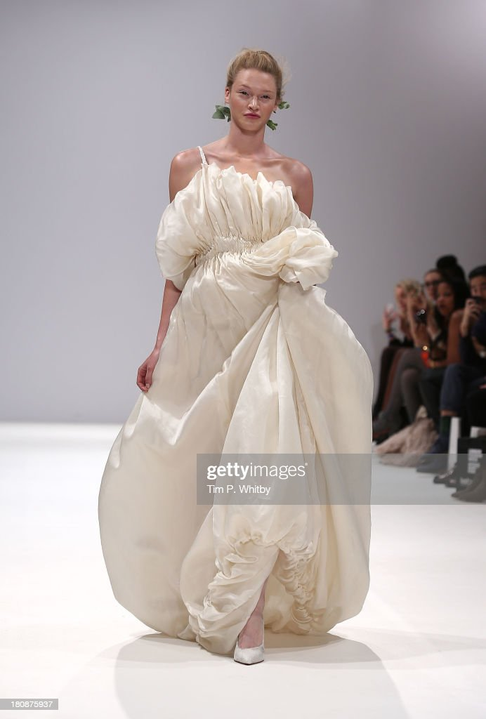 A model walks the runway at the Lulu Lui show at the Fashion Scout Venue during London Fashion Week SS14 at Freemasons Hall on September 17, 2013 in London, England.