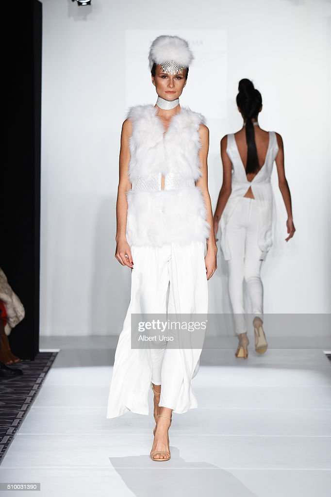 A model walks the runway at the Maison Cyma show during Fall 2016 ...