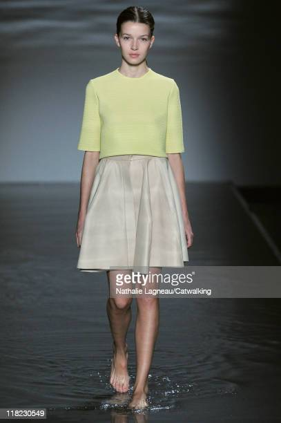 A model walks the runway at the Maison Rabih Kayrouz Haute Couture autumn winter 2011 fashion show during Paris Haute Couture Week on July 5 2011 in...