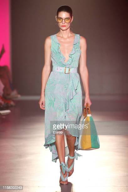 A model walks the runway at the Maite by Lola Casademunt show during Barcelona 080 Fashion Week Spring/Summer 2020 on June 25 2019 in Barcelona Spain