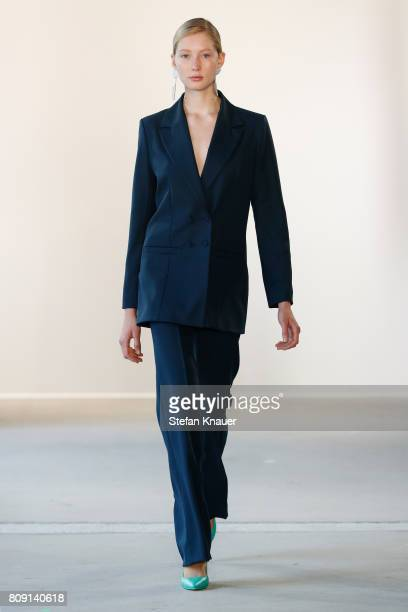A model walks the runway at the Malaikaraiss show during the MercedesBenz Fashion Week Berlin Spring/Summer 2018 at Kaufhaus Jandorf on July 5 2017...