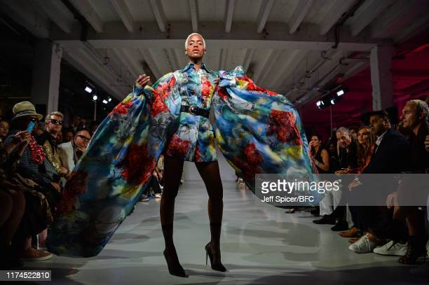 A model walks the runway at the Malan Breton SS 2020 show during London Fashion Week September 2019 at the on September 13 2019 in London England