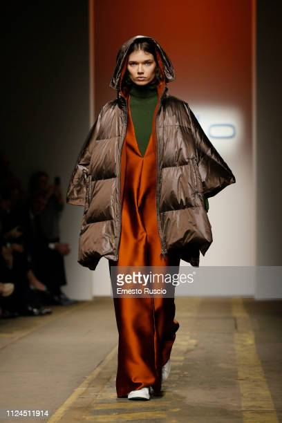 A model walks the runway at the Malo presentation fashion show during Altaroma on January 24 2019 in Rome Italy