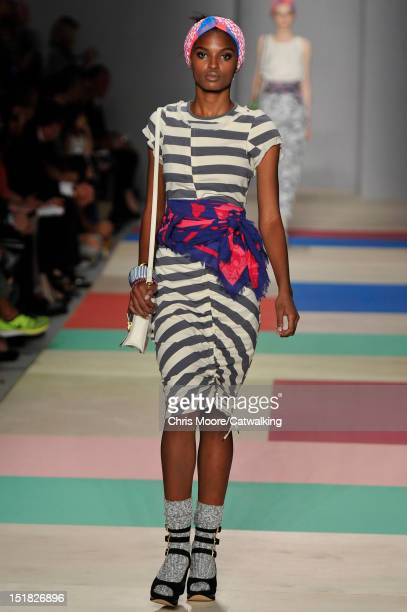 A model walks the runway at the Marc by Marc Jacobs Spring Summer 2013 fashion show during New York Fashion Week on September 11 2012 in New York...