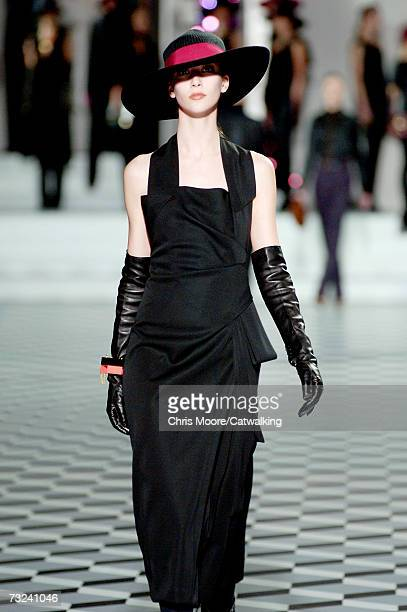 Model walks the runway at the Marc Jacobs Fall 2007 fashion show during Mercedes-Benz Fashion Week at NY State Armory February 5, 2007 in New York...