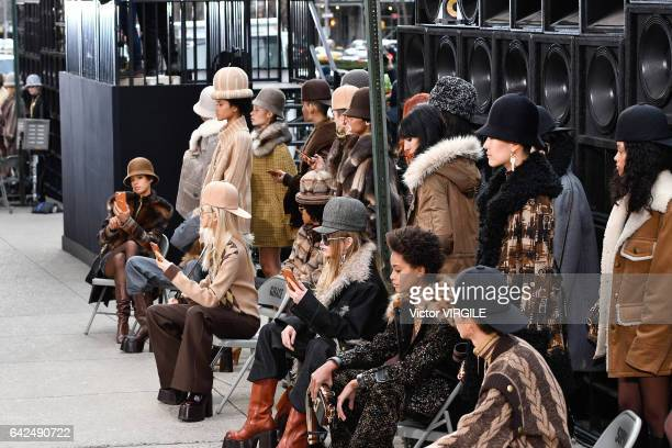 Model walks the runway at the Marc Jacobs Ready to Wear Fall Winter 2017-2018 fashion show on February 16, 2017 in New York City.