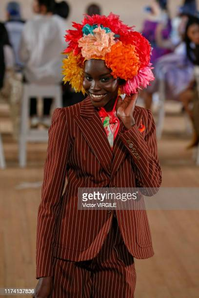 A model walks the runway at the Marc Jacobs Ready to Wear Spring/Summer 2020 fashion show during New York Fashion Week on September 11 2019 in New...