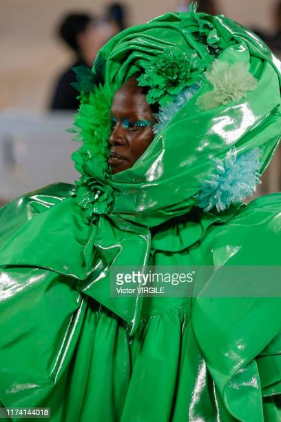 Model walks the runway at the Marc Jacobs Ready to Wear Spring/Summer 2020 fashion show during New York Fashion Week on September 11, 2019 in New...