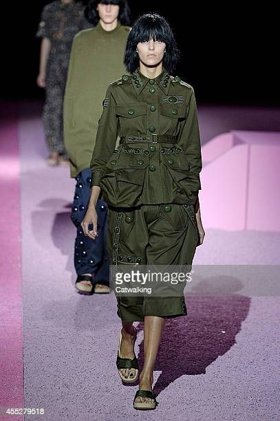 A model walks the runway at the Marc Jacobs Spring Summer 2015 fashion show during New York Fashion Week on September 11 2014 in New York United...