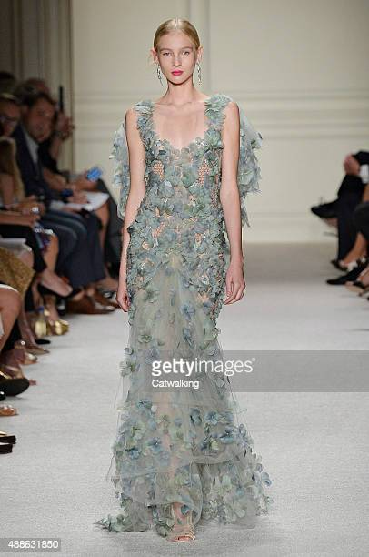 Model walks the runway at the Marchesa Spring Summer 2016 fashion show during New York Fashion Week on September 16, 2015 in New York, United States.