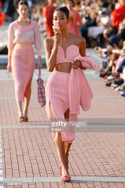 A model walks the runway at the Marco De Vincenzo show during the Milan Fashion Week Spring/Summer 2020 on September 20 2019 in Milan Italy