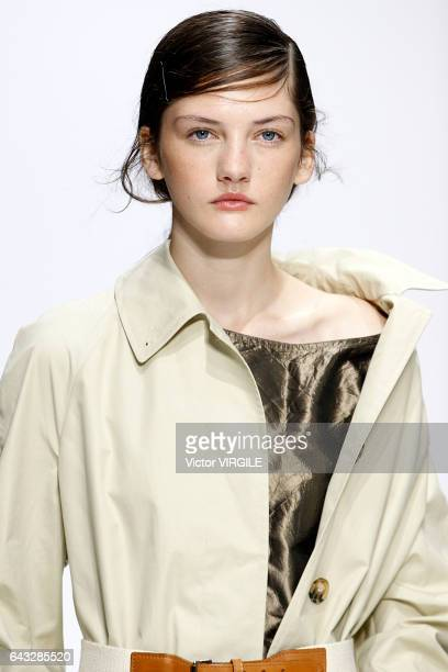 A model walks the runway at the Margare Howell show during London Fashion Week Spring/Summer collections 2016/2017 on September 18 2016 in London...