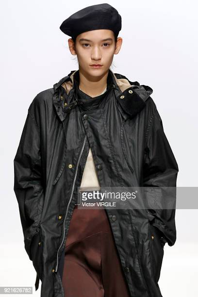 A model walks the runway at the Margaret Howell Ready to Wear Fall/Winter 20182019 fashion show during London Fashion Week February 2018 on February...