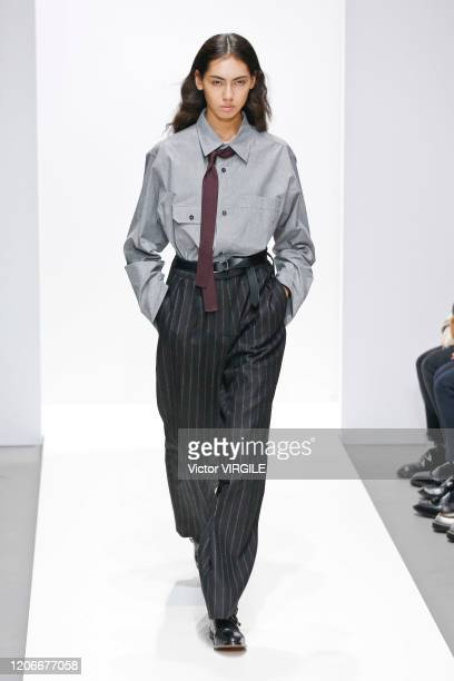 A model walks the runway at the Margaret Howell Ready to Wear Fall/Winter 20202021 fashion show during London Fashion Week on February 16 2020 in...