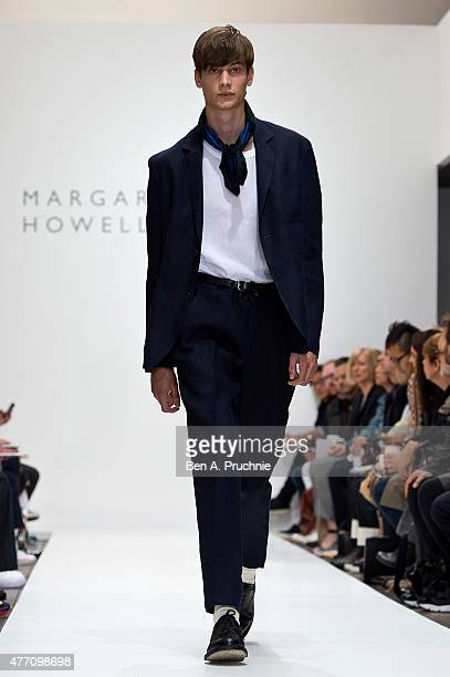 A model walks the runway at the Margaret Howell show during The London Collections Men SS16 at on June 14 2015 in London England