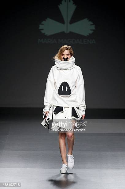 A model walks the runway at the Maria Magdalena show during Madrid Fashion Week Fall/Winter 2015/16 at Ifema on February 11 2015 in Madrid Spain