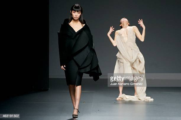 Model walks the runway at the Maria Ole Leal show during Madrid Fashion Week Fall/Winter 2015/16 at Ifema on February 11, 2015 in Madrid, Spain.