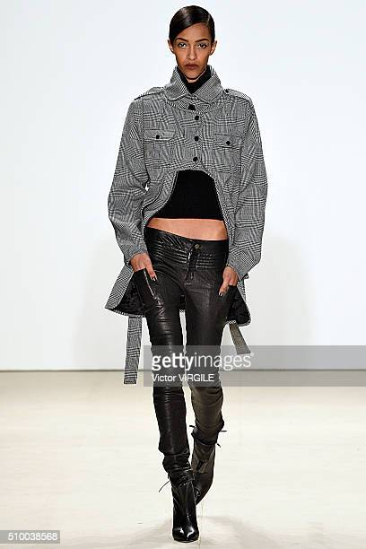 Model walks the runway at the Marissa Webb Fall/Winter 2016 during the New York Fashion Week on February 11, 2016 in New York City.