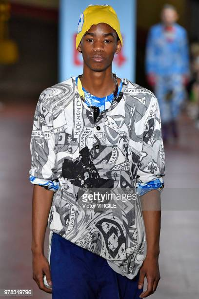 A model walks the runway at the Marni fashion show during Milan Men's Fashion Week Spring/Summer 2019 on June 16 2018 in Milan Italy
