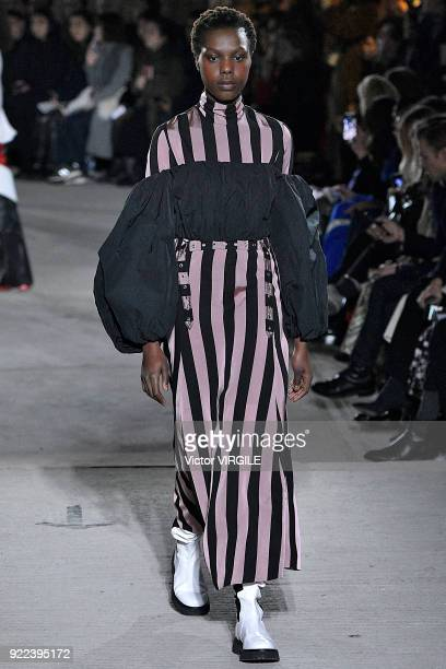 A model walks the runway at the Marques Almeida Ready to Wear Fall/Winter 20182019 fashion show during London Fashion Week February 2018 on February...