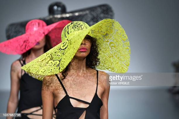 A model walks the runway at the Marta Jakubowski Ready to Wear Spring/Summer 2019 fashion show during London Fashion Week September 2018 on September...