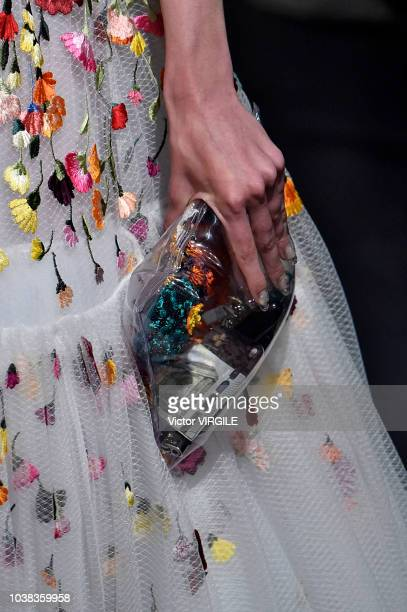 A model walks the runway at the Mary Katrantzou Ready to Wear Spring/Summer 2019 fashion show during London Fashion Week September 2018 on September...